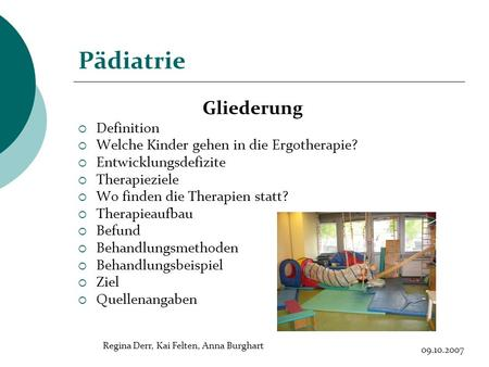 Pädiatrie Gliederung Definition