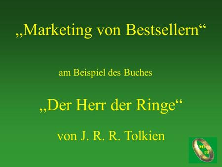 """Marketing von Bestsellern"""
