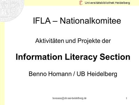 Information Literacy Section