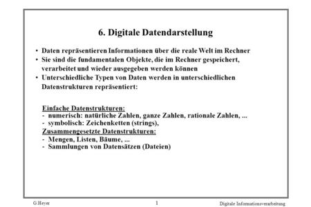 6. Digitale Datendarstellung