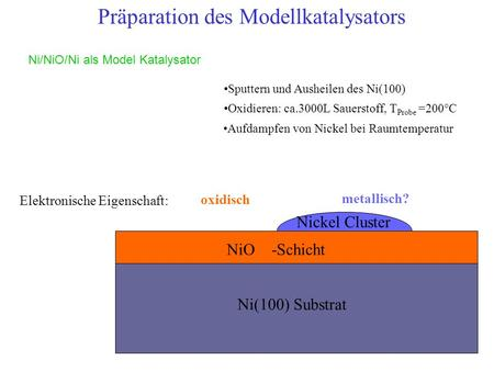 Präparation des Modellkatalysators
