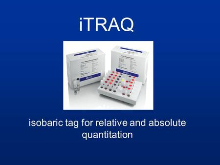 isobaric tag for relative and absolute quantitation