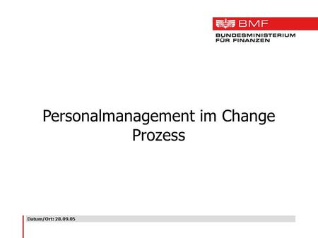 Personalmanagement im Change Prozess