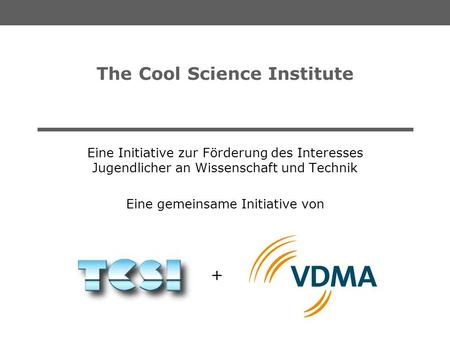 The Cool Science Institute