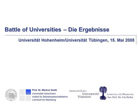 Battle of Universities – Die Ergebnisse