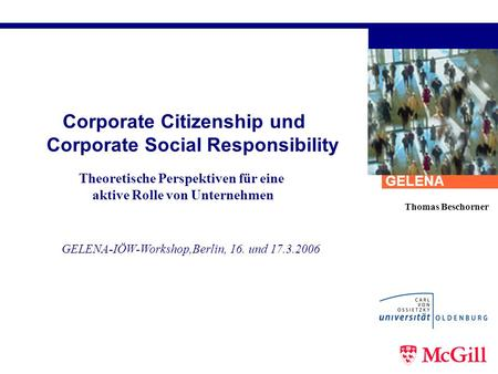 Corporate Citizenship und Corporate Social Responsibility