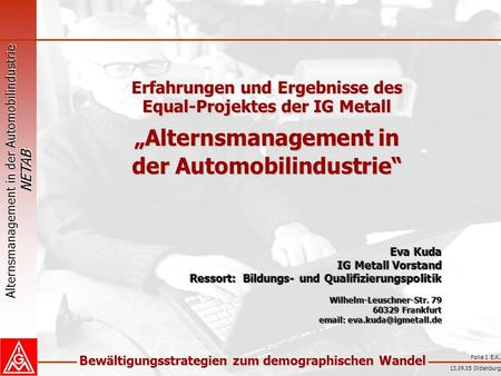 """Alternsmanagement in der Automobilindustrie"""