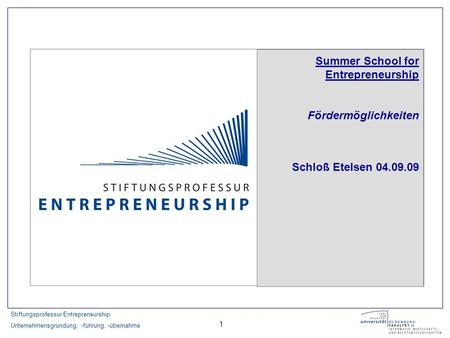 Summer School for Entrepreneurship