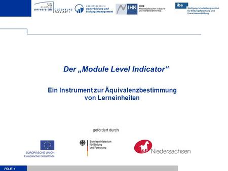 "Der ""Module Level Indicator"""