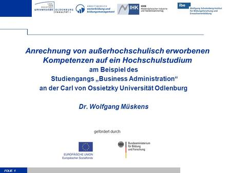 "am Beispiel des Studiengangs ""Business Administration"""