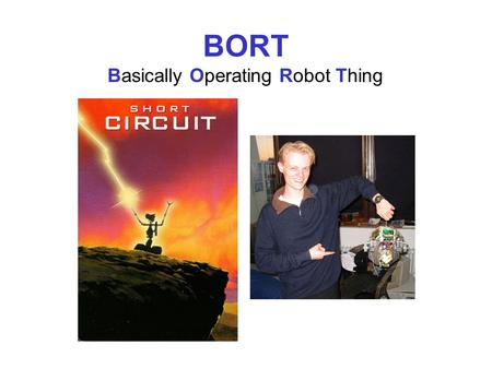 BORT Basically Operating Robot Thing