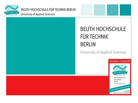 Beuth Hochschule für Technik Berlin – University of Applied Sciences