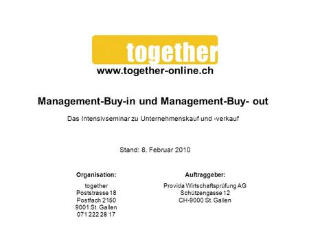Management-Buy-in und Management-Buy- out
