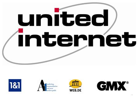 Inhalt United Internet Produktbereiche Organigramm 1&1 Internet AG A1 Marketing Fotos Quellen.