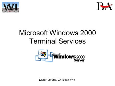 Microsoft Windows 2000 Terminal Services