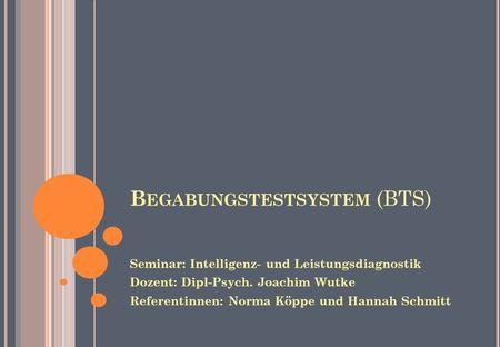 Begabungstestsystem (BTS)