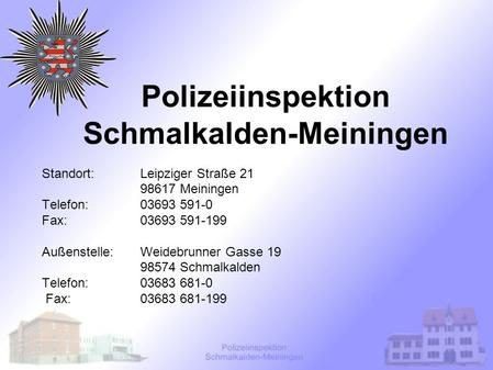 Polizeiinspektion Schmalkalden-Meiningen