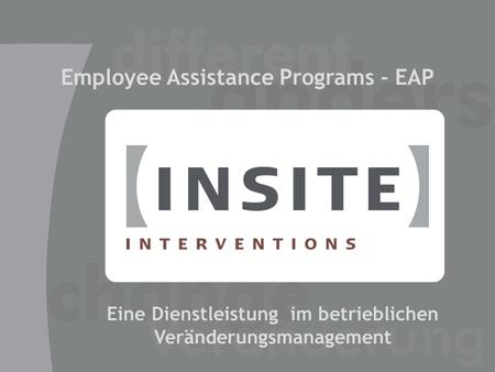 Employee Assistance Programs - EAP