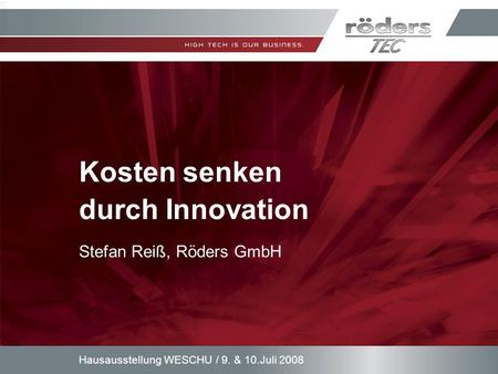 Kosten senken durch Innovation