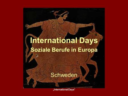 International Days Soziale Berufe in Europa