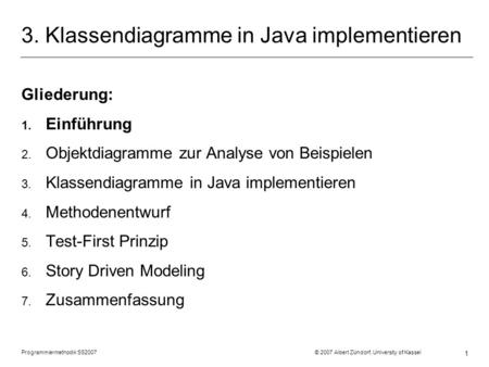 3. Klassendiagramme in Java implementieren