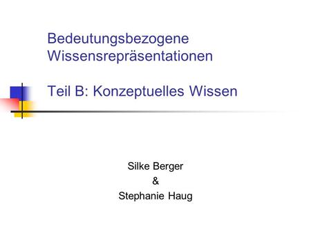 Silke Berger & Stephanie Haug