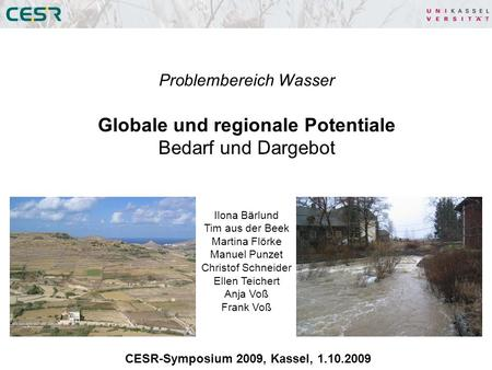 Globale und regionale Potentiale