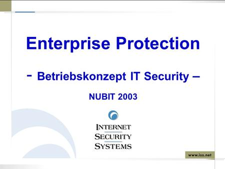 Enterprise Protection Betriebskonzept IT Security –