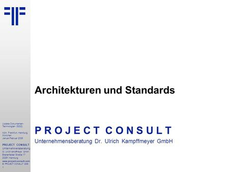 Architekturen und Standards
