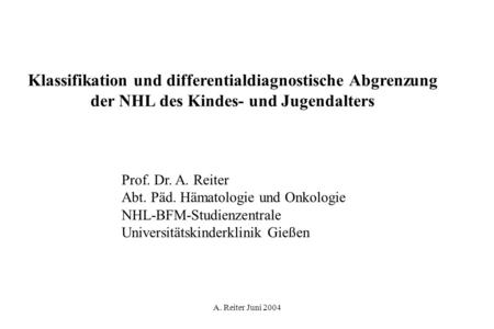 Klassifikation und differentialdiagnostische Abgrenzung