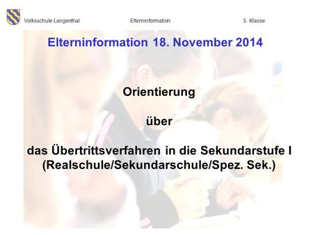 Elterninformation 18. November 2014