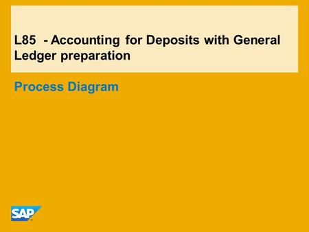 L85 - Accounting for Deposits with General Ledger preparation Process Diagram.