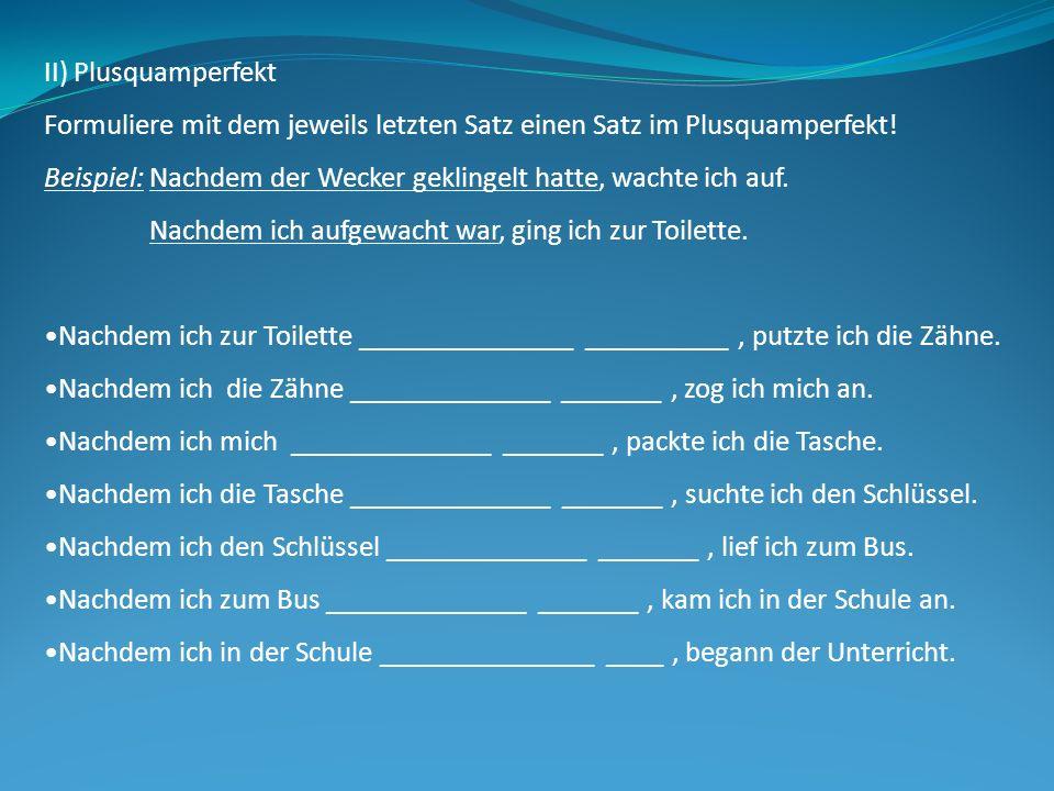 Zeitformen Plusquamperfekt Beste Tipps Zum Deutsch Lernen