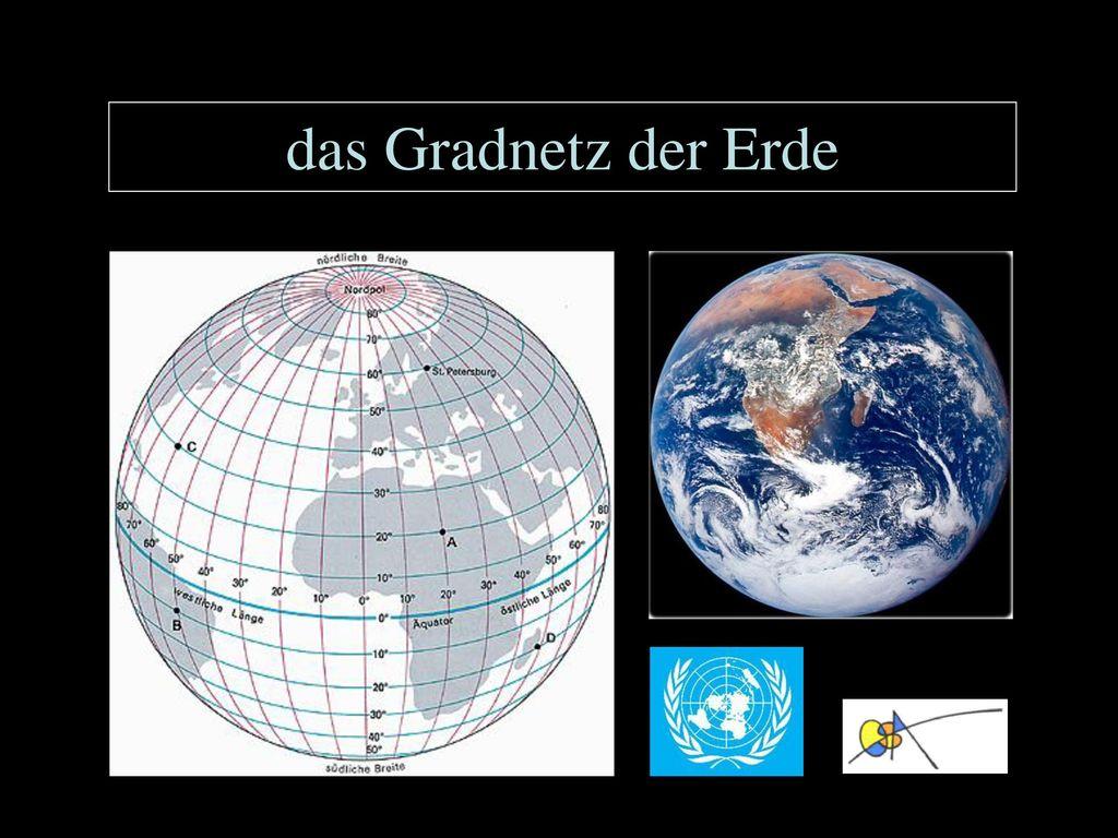 Das Gradnetz der Erde.   ppt herunterladen