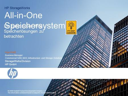 HP StorageWorks All-in-One Speichersystem
