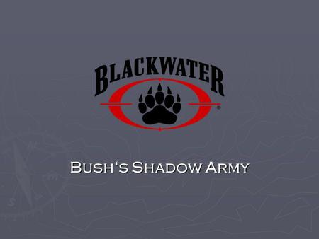 Bush's Shadow Army.