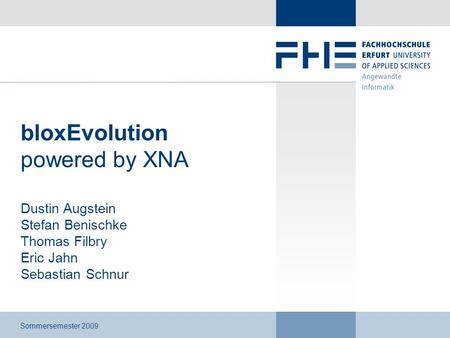 bloxEvolution powered by XNA