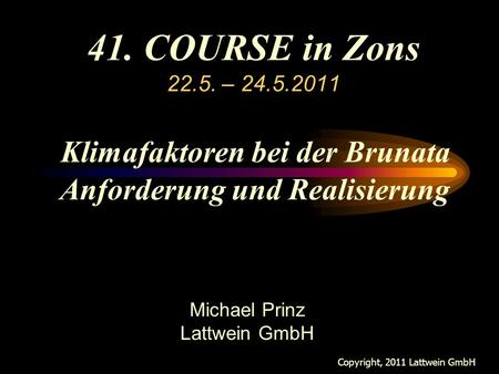 Neues in Version 2.5 Michael Prinz Lattwein GmbH