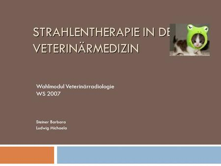 Strahlentherapie in der Veterinärmedizin