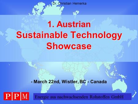 1. Austrian Sustainable Technology Showcase