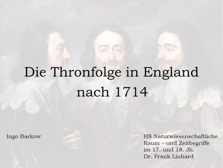 Die Thronfolge in England