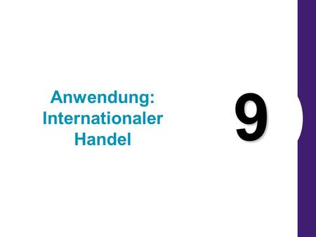Anwendung: Internationaler Handel