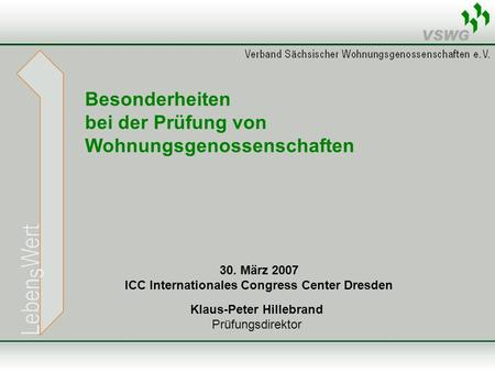 ICC Internationales Congress Center Dresden Klaus-Peter Hillebrand