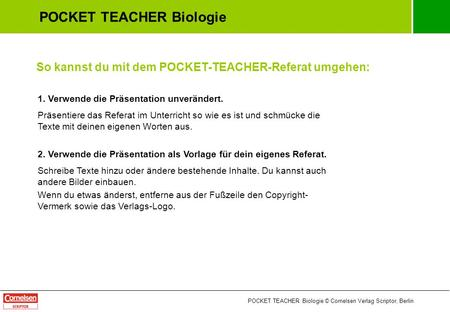 POCKET TEACHER Biologie