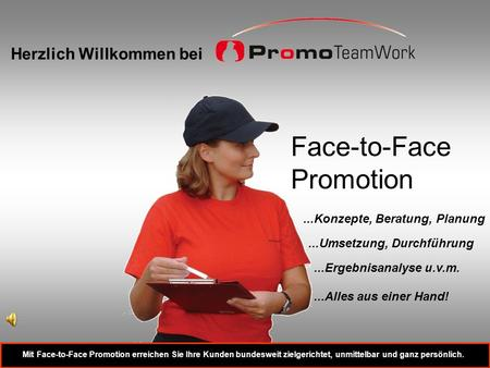 Face-to-Face Promotion