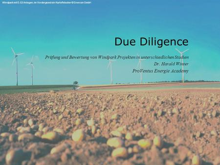 Due Diligence ProVentus Energie Academy