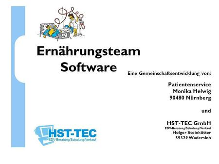 Ernährungsteam Software