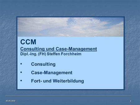 CCM Consulting und Case-Management Consulting Case-Management