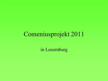 Comeniusprojekt 2011 in Luxemburg.