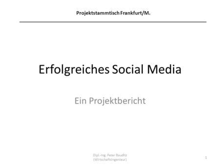 Erfolgreiches Social Media